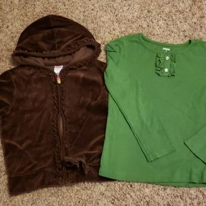 Gymboree Set of 2: Velour Hoodie and Shirt